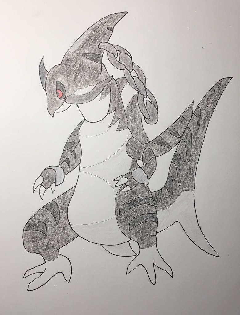Delta Haxorus Shiny Variant Colored By Yureiart On Deviantart