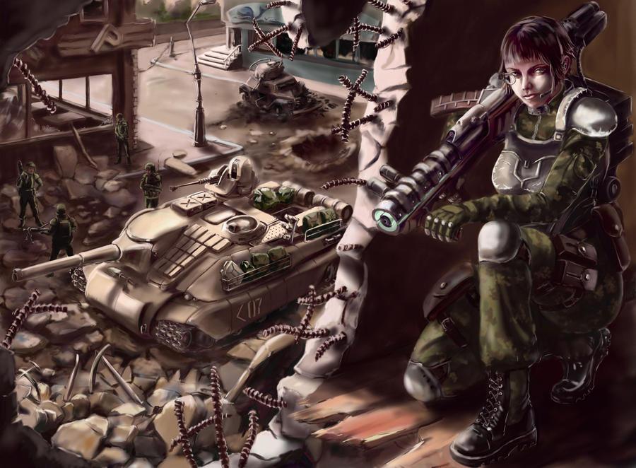 Antitank fighter by Nakamoora
