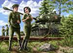 Soviet crew of the IS-2