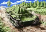 Soviet heavy tank KV-1E