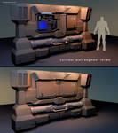 Sci-Fi corridor wall segment concept