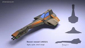 Sci-Fi recon vessel concept 140321