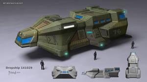 scifi dropship concept
