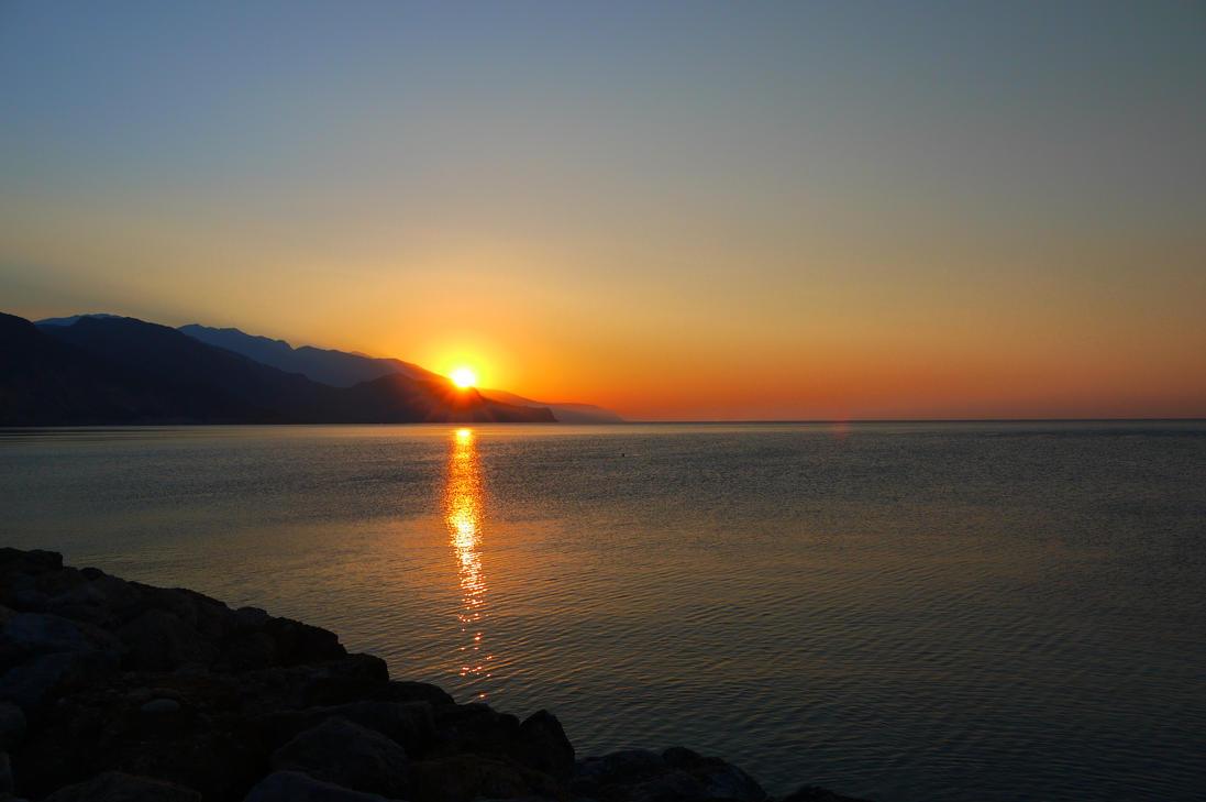 Sunset Paleochora by Judeyy