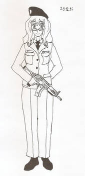 Filicia Heideman in  Switzerland uniform