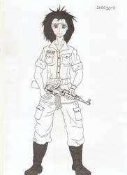 Guerilla woman FARC-EP