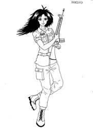 Woman-guerilla FARC-EP