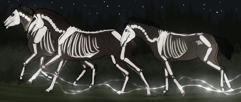 Spooky Scary Skeletons by FerretRocher