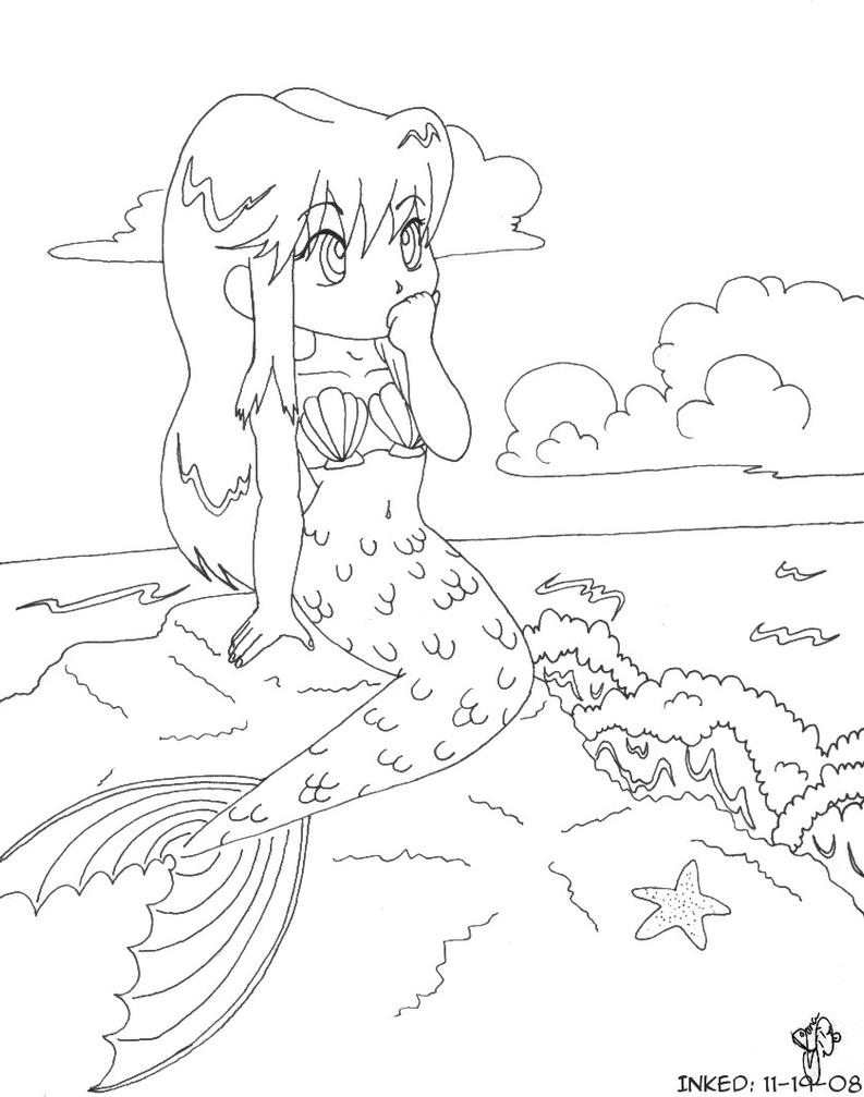queen mermaid coloring pages - photo#17