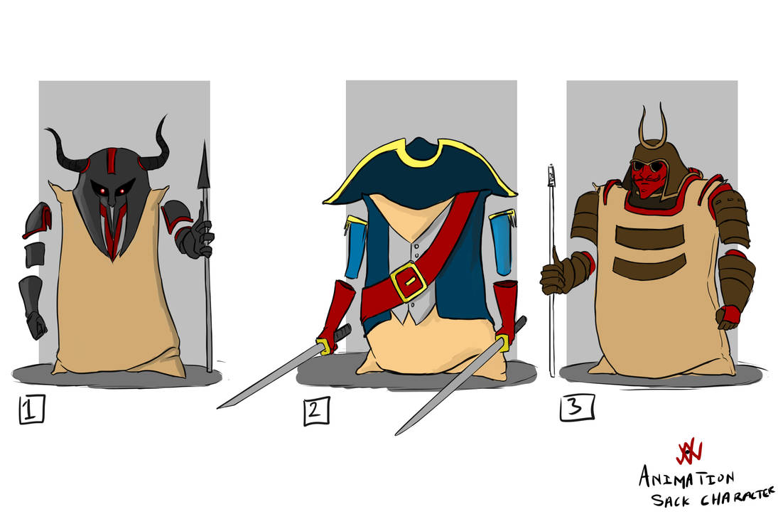 Day#5 Flour Sack character designs