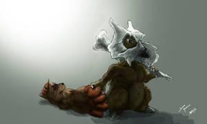 Realistic Cubone by Joshua-Morrison