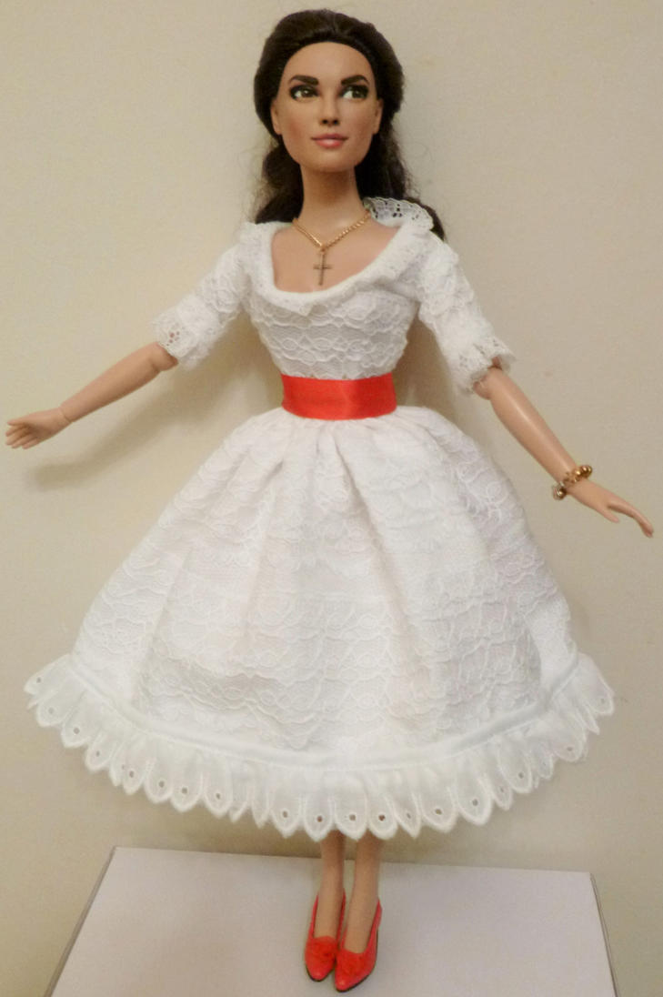 Doll Repaint-Natalie Wood (Full-length view) by R-Marie