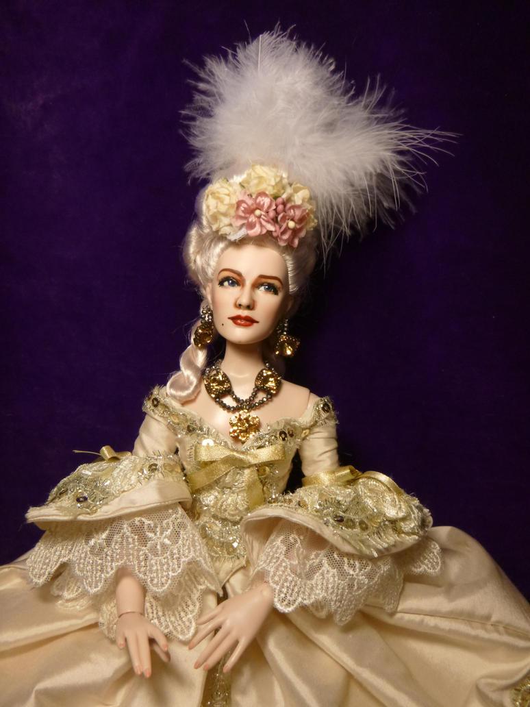 Doll Repaint-Norma Shearer as Marie Antoinette by R-Marie