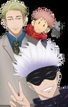 Nanami, Gojo and Yuji render  [JUJUTSU KAISEN] by sugacream