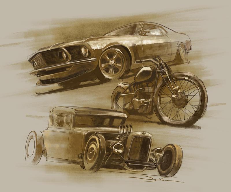 Dirt Car Paintings