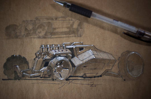 Hot Rod Tank Sketch