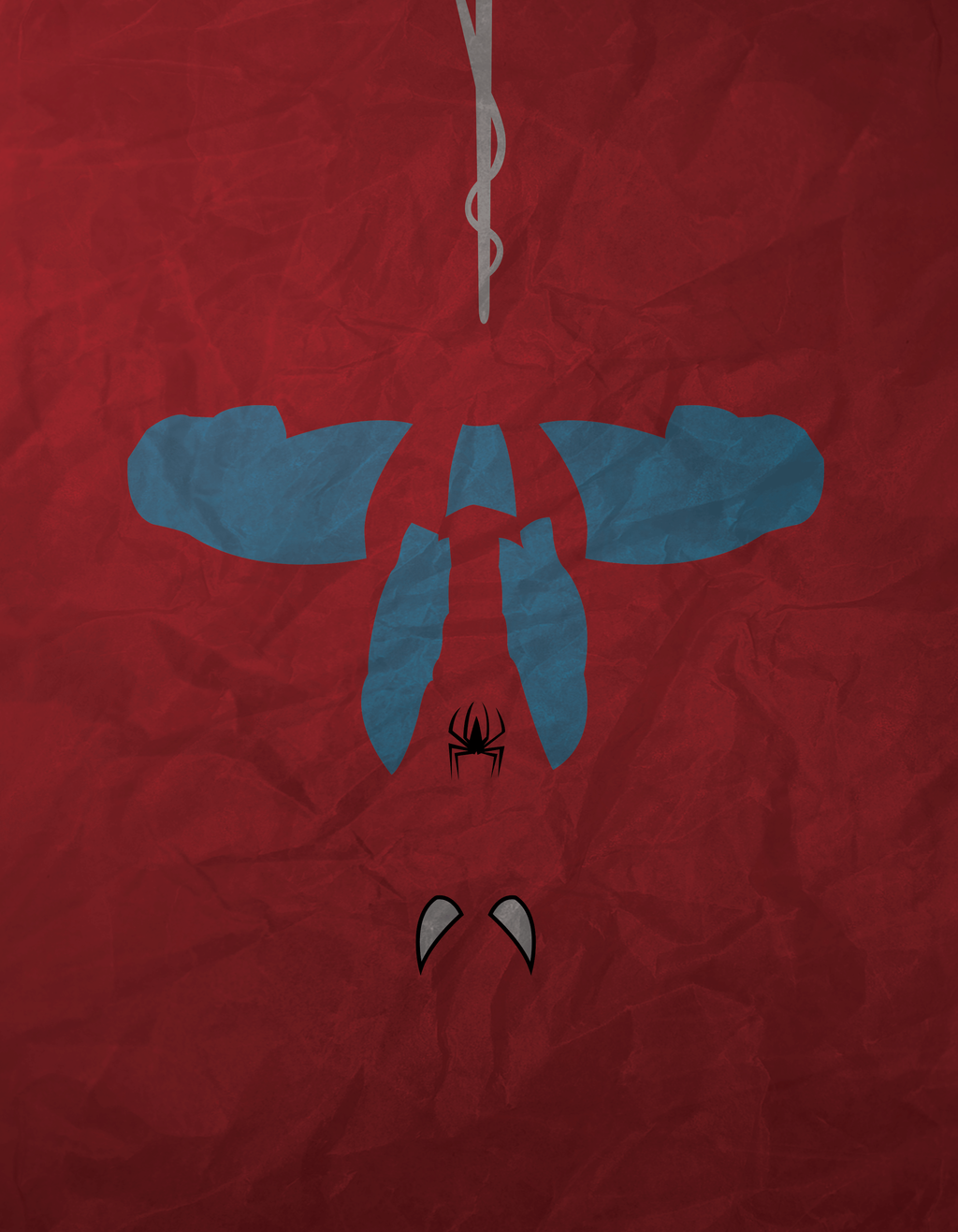 Spiderman minimalism by atomickittenstudios on deviantart for What is a minimalist