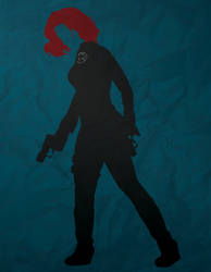 Black Widow Minimalism by AtomicKittenStudios