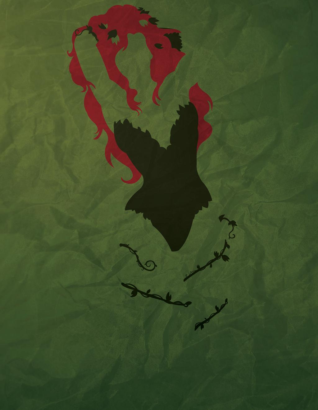 Poison Ivy Minimalism By Atomickittenstudios On Deviantart