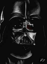 Darth Vader Colored Pencil