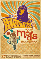 Hippies vs Mods Party by SeBDeSiGN