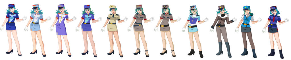 Oficial Jenny Pokemon Uniforms And own creations