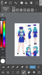 w.i.p officer  jenny pokemon by  ann47