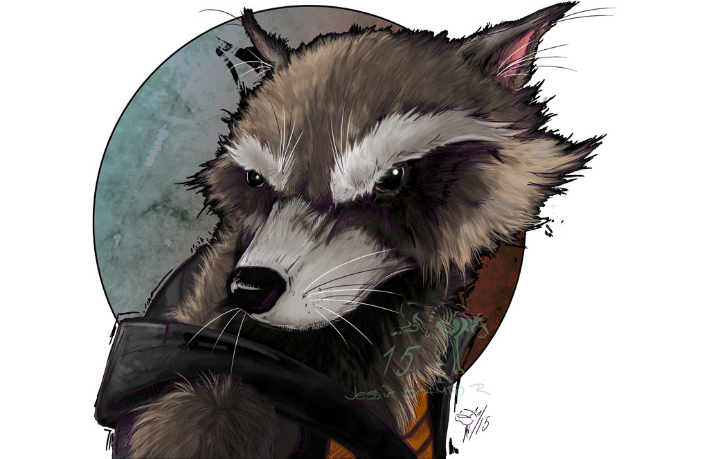Rocket Racoon by nightgallon