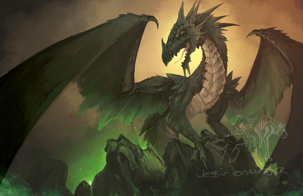 Greenish Dragon by nightgallon