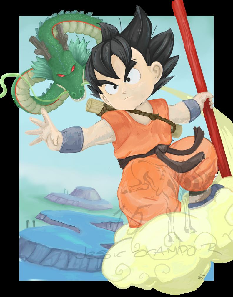 Goku by nightgallon