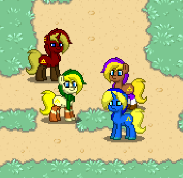 The Four Swords in PonyTown by StarkRush