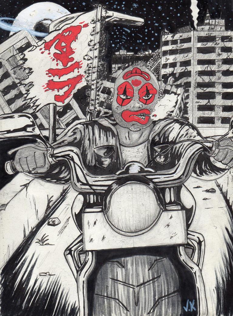 Akira  the clown by kergourlay