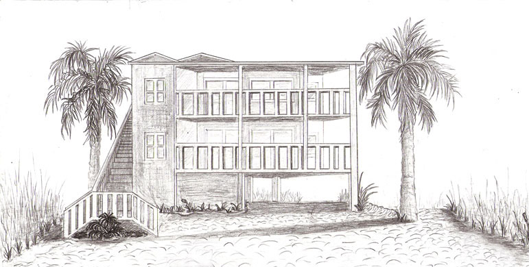 1 point perspective 1 by yvonnelopez - Beach House Drawings
