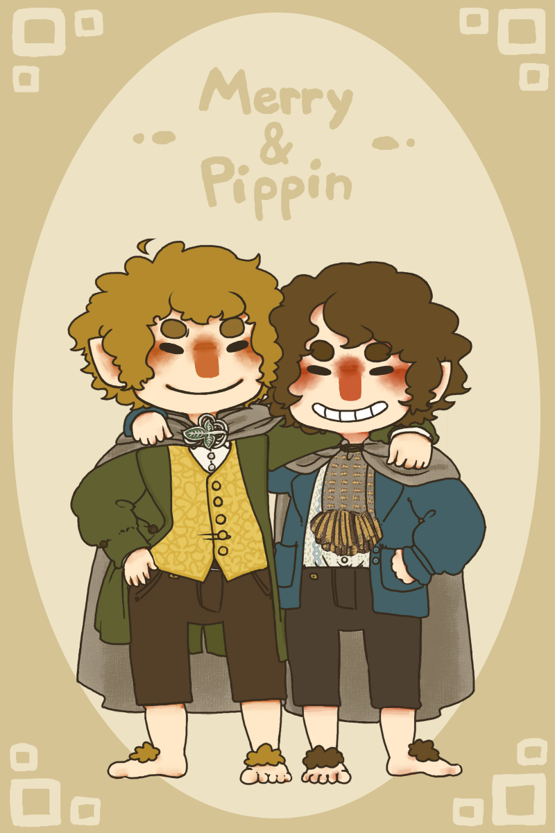 Merry and Pippin by jamknight