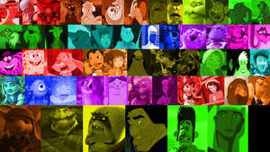 A Rainbow of Animated Movie Characters (Part 2)
