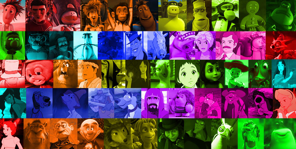 A rainbow of animated movie characters part 4 by for Sharks fish chicken little rock ar