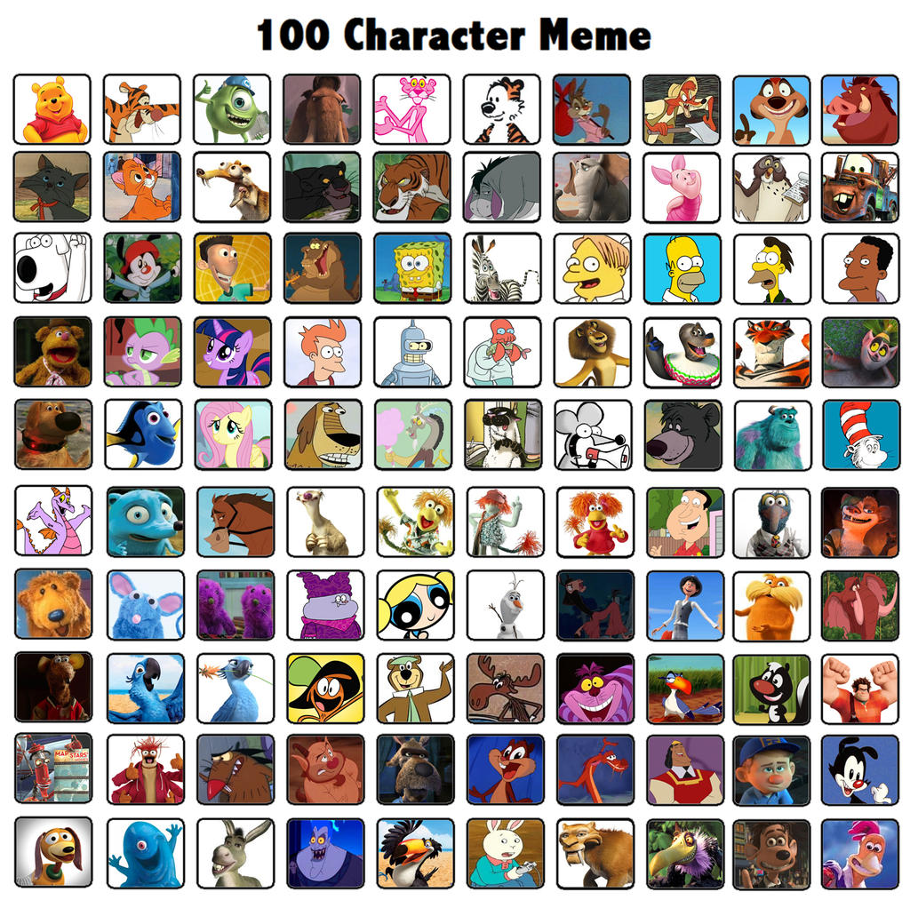 Cartoon Characters 2 100 Pics : Favorite characters of mine by michaelsar on deviantart