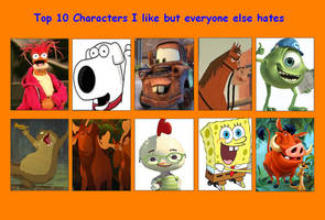 Top 10 Characters I Like But Everybody Else Hates