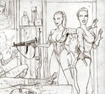 Nikki and Monic vs Guards (frag) by Svetoslawa