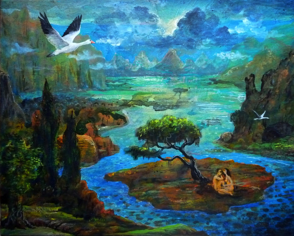 Island Lovers 40x50cm.. by rodulfo