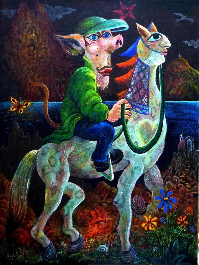 Wandering Fool 45x60cm by rodulfo