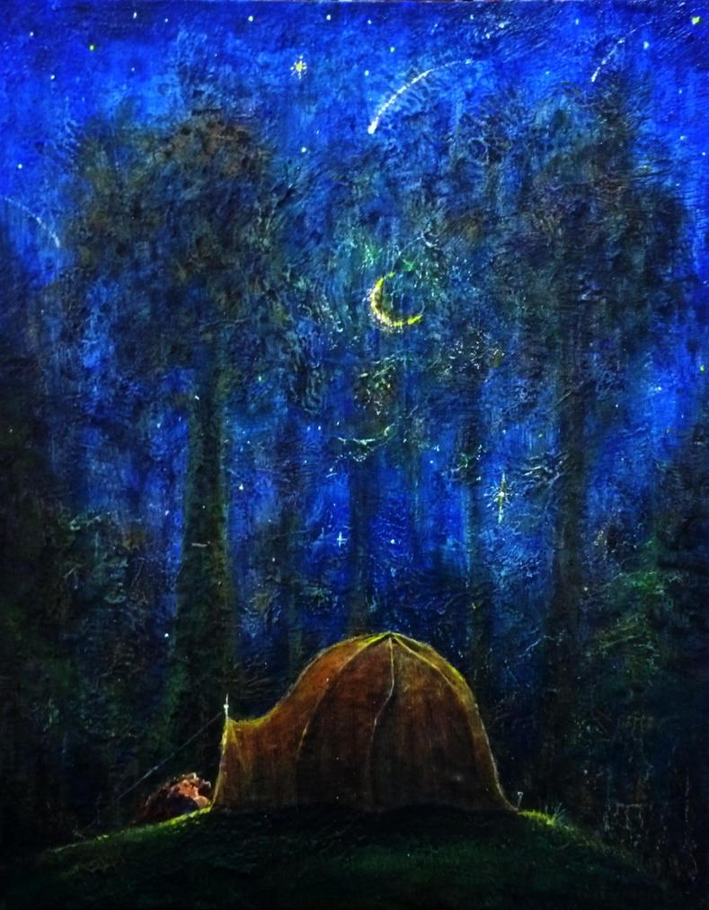 Watching Stars 40x50cm  2015 by rodulfo