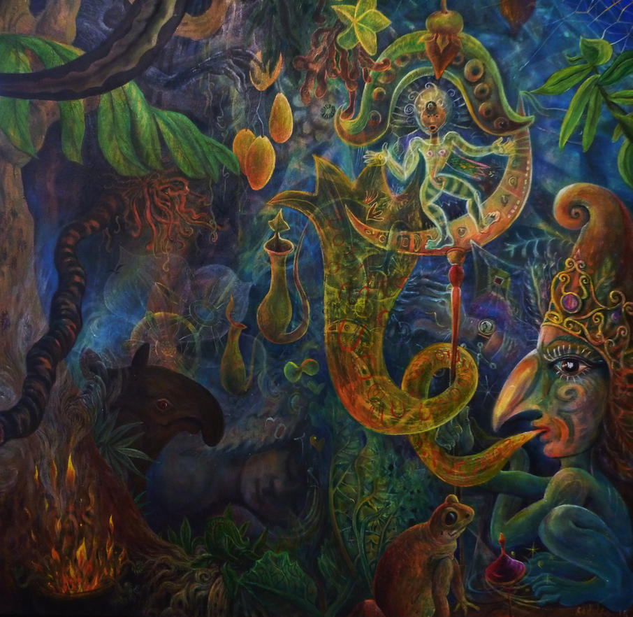 Jungle Adjustments  109cm x109cm by rodulfo