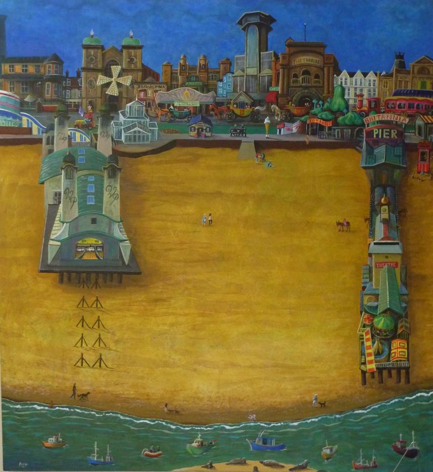 Besides The Sea 137x147 Acryliconcanvas by rodulfo