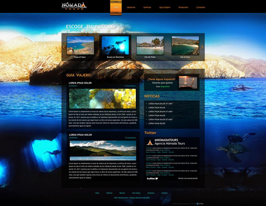 Nomada Tours - Web Design by chekspir