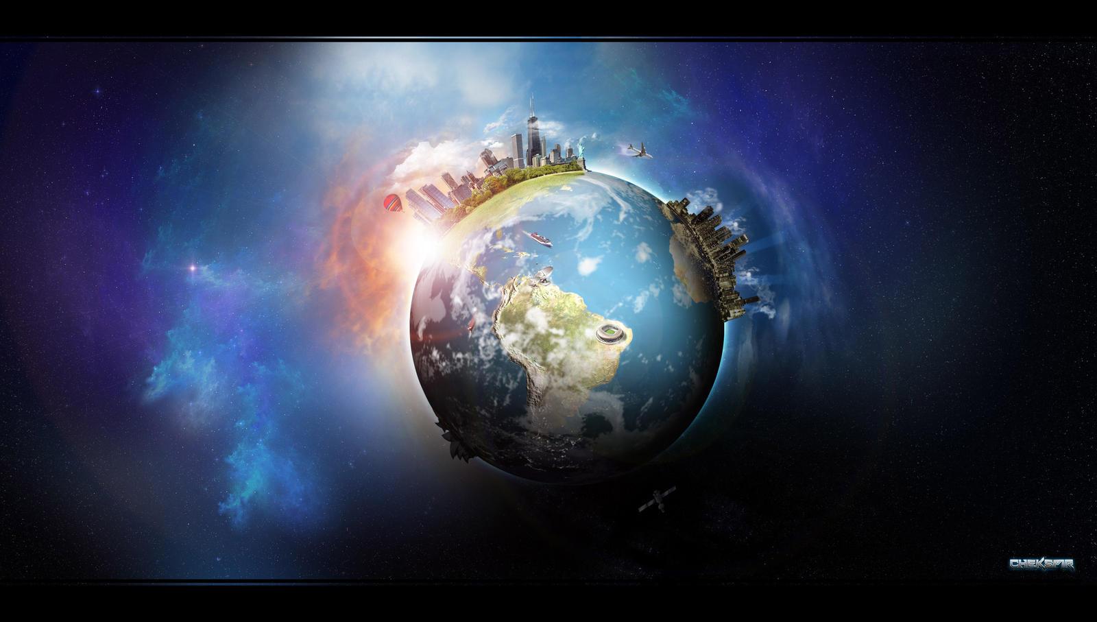 Earth Digital Art Hd Wallpaper: Planet Earth By Chekspir On DeviantArt
