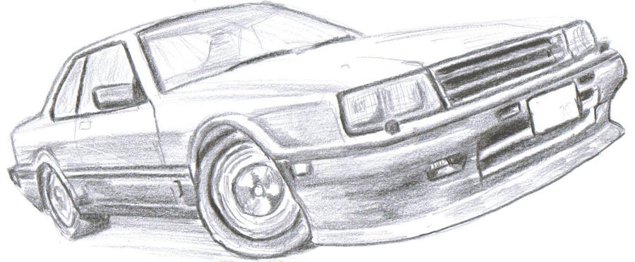 nissan skyline dr30 sketch by nismo