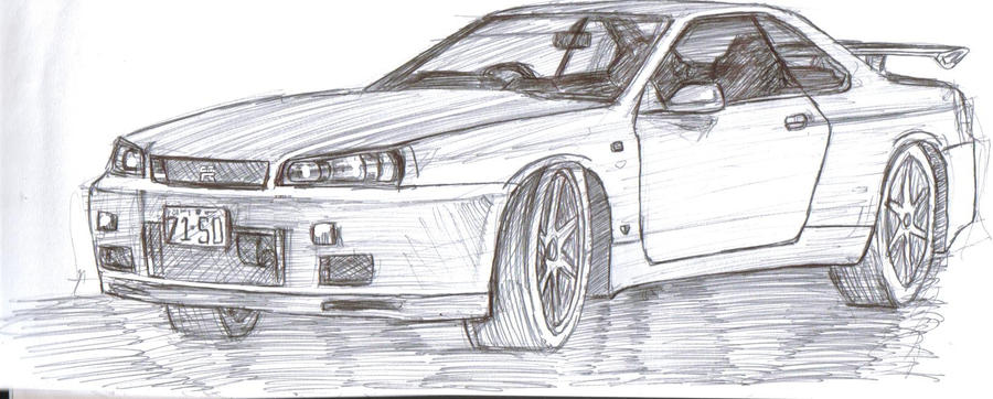 Nissan Skyline Sketch Nissan Skyline gt r R34 by
