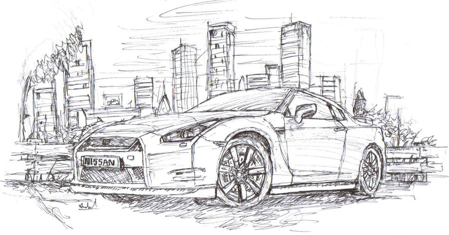nissan gtr nismo coloring pages - photo#35