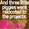 Relocated Piggies by lilymichelle